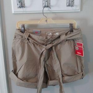 Mossimo Vintage Khaki Roll Up Shorts Juniors